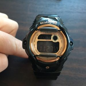 G-Shock Watch Black and Rose Gold